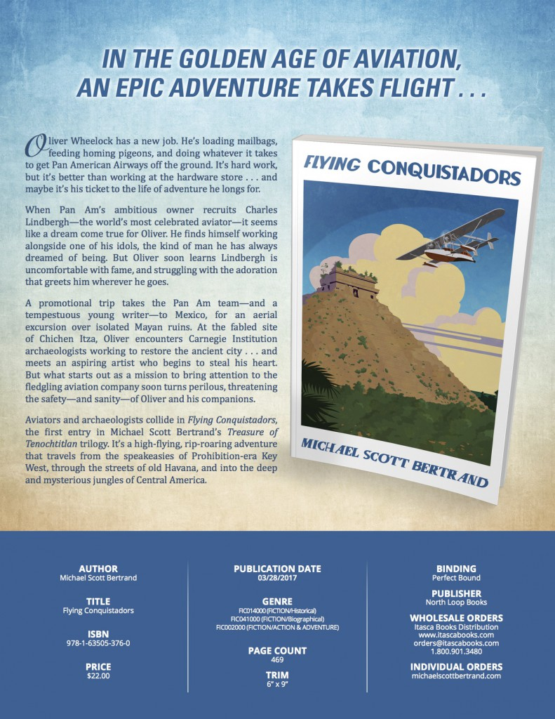 Sell Sheet: Flying Conquistadors by Michael Scott Bertrand