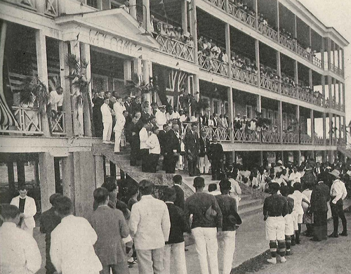 Lindbergh at St. John's College in Belize (then British Honduras)