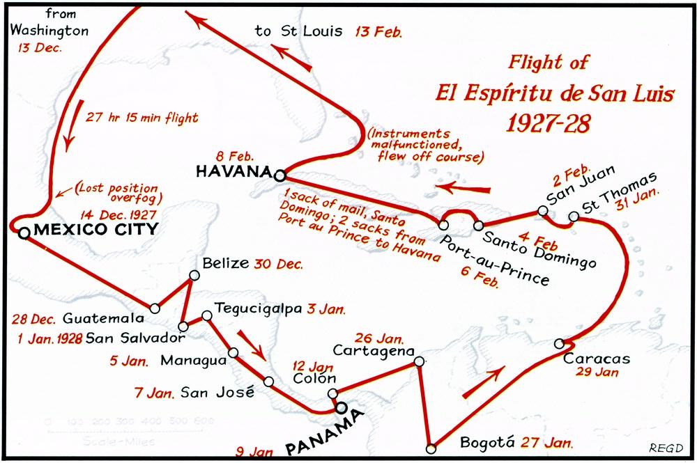 Lindbergh's Latin America tour, 1927-1928